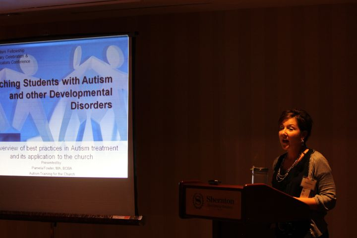 Pamela Fowler teaching about Autism